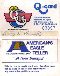 Q Card front and back