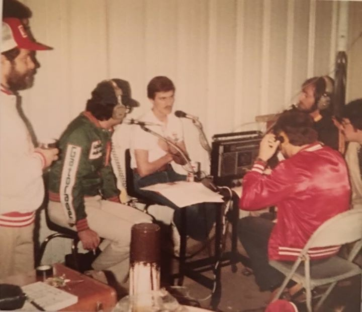 Rick Sisk, Dennis Deason & Roger Gaither interviewing Davey Allison